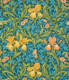 Iris wallpaper, by William Morris