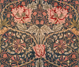 Honeysuckle furnishing fabric, by William Morris