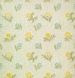 Powdered wallpaper, by William Morris