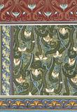 Snowdrops wallpaper, by Eugene Samuel Grasset