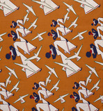 Matelot dress fabric, by The Calico Printers Association