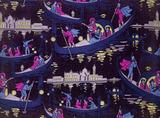 Venise, Fete de nuit furnishing fabric, by Georges Barbier