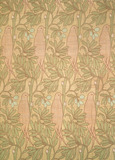 Purple Bird furnishing fabric, by C.F.A.Voysey