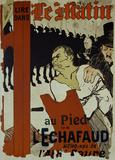 Lire Dans, le Matin, au Pied de l'Echafaud, by Henri de Toulouse-Lautrec