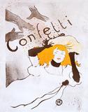 Confetti, by Henri de Toulouse-Lautrec
