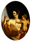Venus and Cupid, by Guercino