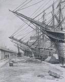 East India and West India Docks: Sailing Ships, by Thomas Robert Way