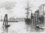 A View on the Thames below London Bridge, by Thomas Robert Way