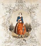 Jenny Lind as Maria in La Figlia del Reggimento, by Romage