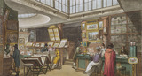 Ackermann's Repository for the Arts in The Strand, by Augustus Charles Pugin