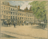 Arch Row, Lincoln's Inn Fields, by Thomas Robert Way