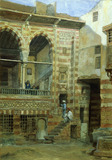 A courtyard in the house of Sheik Sadat, by Frank Dillon