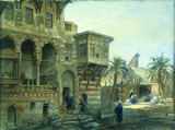Exterior of the house of Mumluk Raduan Bey, by Frank Dillon