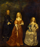 Elizabeth Dysart with her Husband and Sister, by Joan Carlile