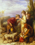 Giving a Bite, by William Mulready
