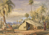 Toddywallah's Hut in a Grove of Date Palms, by William Carpenter