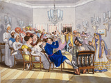 Europeans at a party in Nob Kishen's House in Calcutta, by Sir Charles D'Oyly