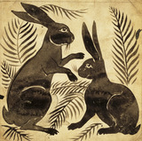 Two Rabbits or Hares, by William de Morgan