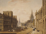 High Street, Oxford, by Augustus Charles Pugin