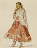Dancing girl of Udaipur, by William Carpenter