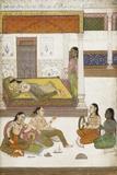 Indian ladies on beds
