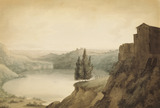 The Lake of Nemi, by John Robert Cozens