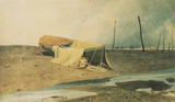 A Boat on the Beach, by John Sell Cotman