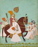Maharaja Ram with attendants