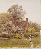 A Cottage at Chiddingfold, Surrey, by Helen Allingham