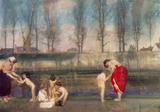 The Bathing Party, by C. Sims