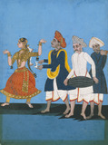 A Tanjore dancing girl with musicians