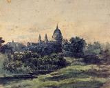 St Paul's From Lambeth Marsh, by Patrick Nasmyth
