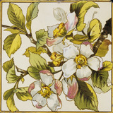 Wild Dog-Roses Tile, made by Doulton & Co