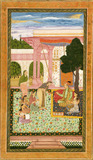 Jahangir with consort and female attendants