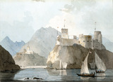 Forts at Muscat, by William Daniell