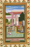 Jahangir with his consort and female attendants in the garden