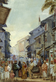 A Street Scene Sunrise, by William Carpenter