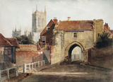Potter Gate, Lincoln, by Peter de Wint