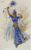 Costume design for India in the Ballet Sapphires, by C.Wilhelm