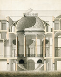 Cut away elevation of part of Wardour Castle, by James Paine