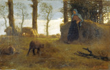 The Shepherdess, by Jean-Franþois Millet