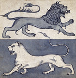 Lions, by William de Morgan