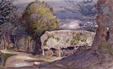 Landscape with Barn, by Samuel Palmer