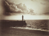 Lighthouse and Jetty, by Gustave Le Gray
