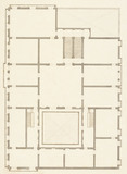 Drawing of a plan of the Palazzo Labia