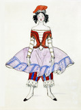 Costume design from Petrushka , by Alexandre Benois