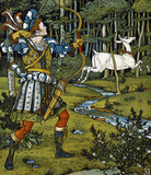 The Hind in the Wood in his Beauty and the Beast Picture Book, by Walter Crane