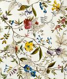 Flower fabric design, by William Kilburn