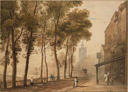 Cheyne Walk Chelsea, by John Varley