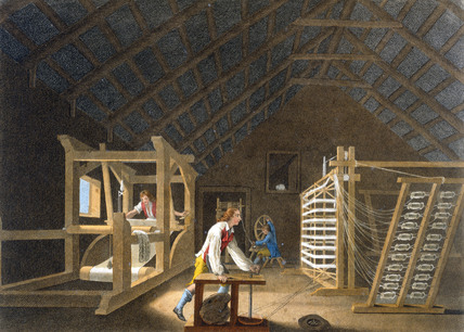 Perspective view of a Lapping Mill, by William Hincks